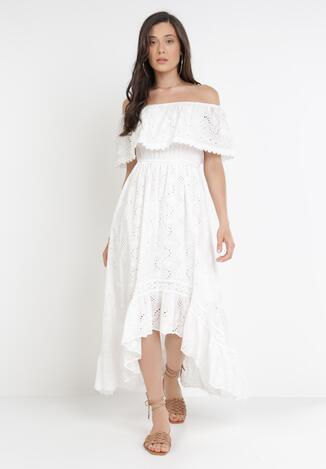 Biała Sukienka Acsephia
