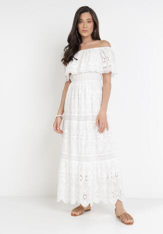 Biała Sukienka Synite