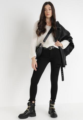 Czarne Spodnie Skinny Pethyxo