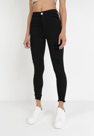Czarne Spodnie Skinny Thosistae