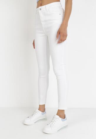 Białe Spodnie Skinny Iasethia