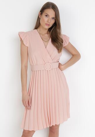 Jasnoróżowa Sukienka Blot