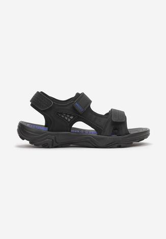 Czarno-Niebieskie Sandały Euthine