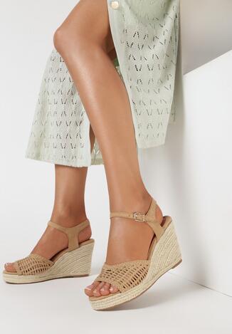 Beżowe Sandały Aelilis