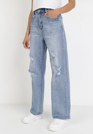 Niebieskie Jeansy Straight Crethophi