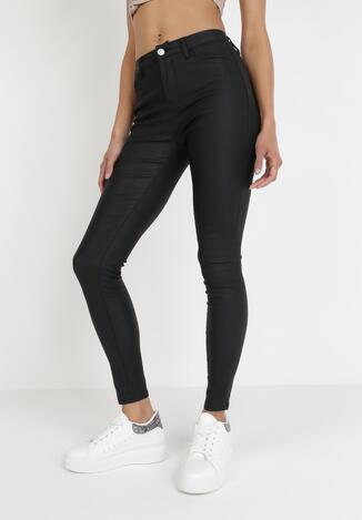 Czarne Spodnie Skinny Praxise