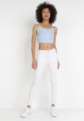 Białe Spodnie Skinny Astranthe