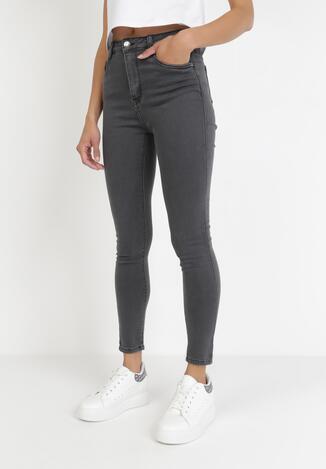 Ciemnoszare Spodnie Skinny Amiphiphise