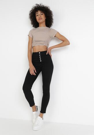 Czarne Jeansy Skinny Sylphisha