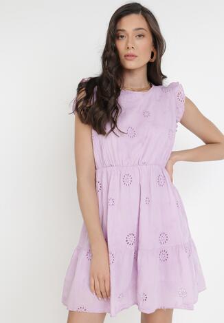 Liliowa Sukienka Selolphi