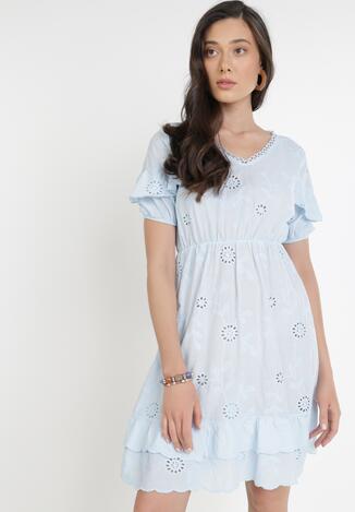 Jasnoniebieska Sukienka Euthine