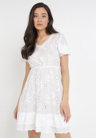 Biała Sukienka Euthine