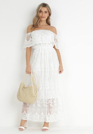 Biała Sukienka Harphinix