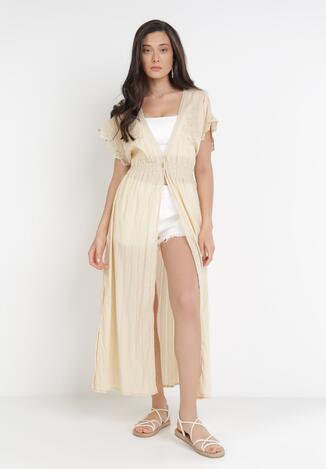 Jasnobeżowa Sukienka Plażowa Castionis