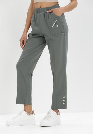 Ciemnozielone Spodnie Athosa