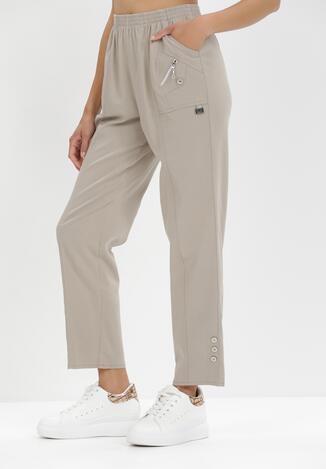 Jasnobeżowe Spodnie Athosa