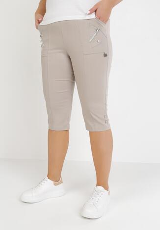 Beżowe Spodnie Acosetis