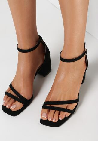 Czarne Sandały Dorephine