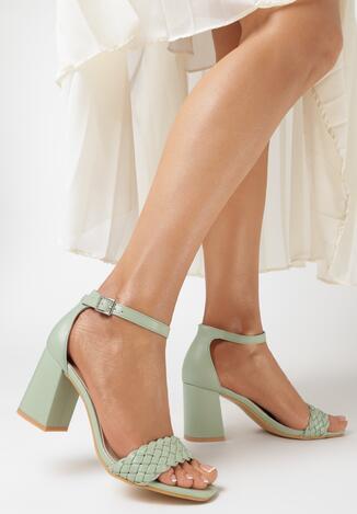 Miętowe Sandały Thanice