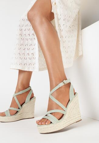 Miętowe Sandały Iphali
