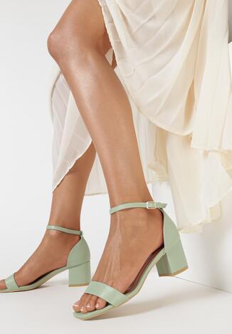 Miętowe Sandały Sileosis