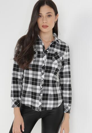 Czarno-Biała Koszula Saliaphe