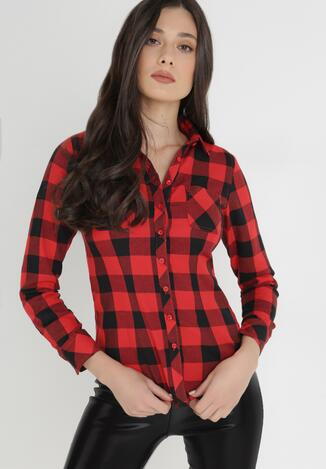 Czarno-Czerwona Koszula Lisixa