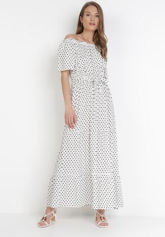 Biała Sukienka Paphophi