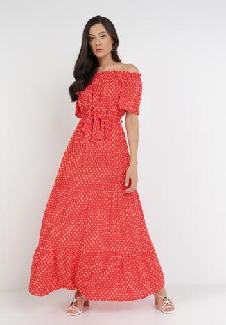 Czerwona Sukienka Paphophi