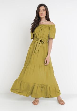 Zielona Sukienka Kissorise