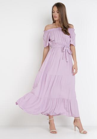 Liliowa Sukienka Kissorise