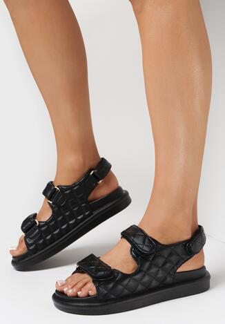 Czarne Sandały Zelithe