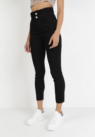 Czarne Spodnie Paper Bag Eustobus