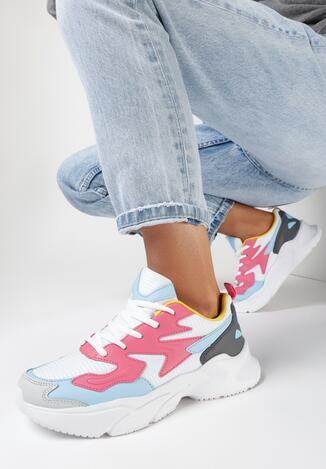Biało-Różowe Buty Sportowe Nyshaia