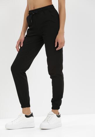 Czarne Spodnie Dresowe Euthallis