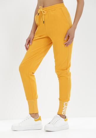 Żółte Spodnie Dresowe Eriphishia