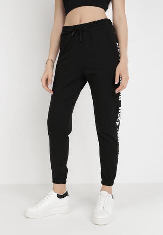 Czarne Spodnie Dresowe Zeuxisei