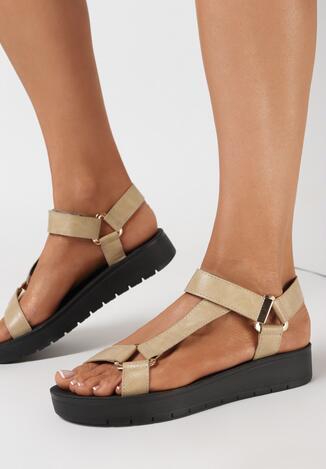 Beżowe Sandały Acosophi