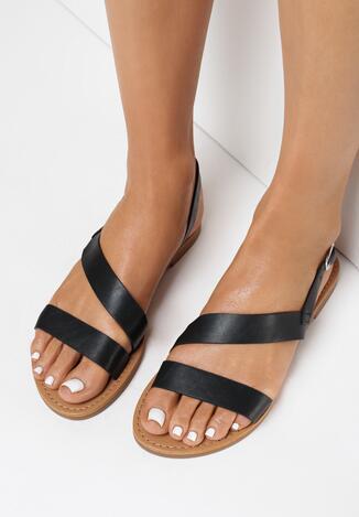 Czarne Sandały Rhaenanise