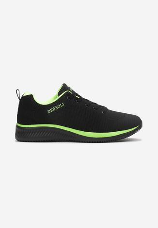 Czarno-Zielone Buty Sportowe Telelinai