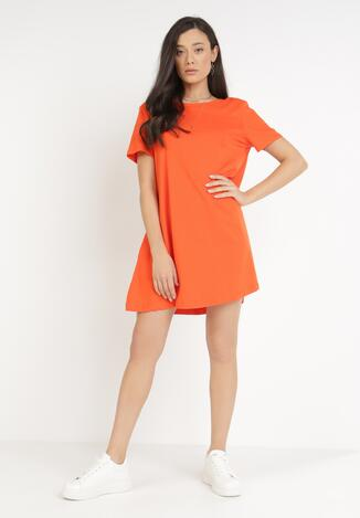 Pomarańczowa Sukienka Madaalan