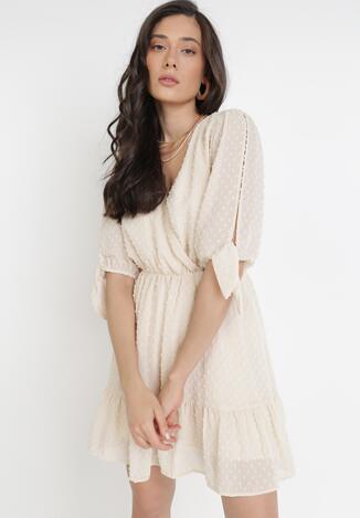 Jasnobeżowa Sukienka Thyxypso
