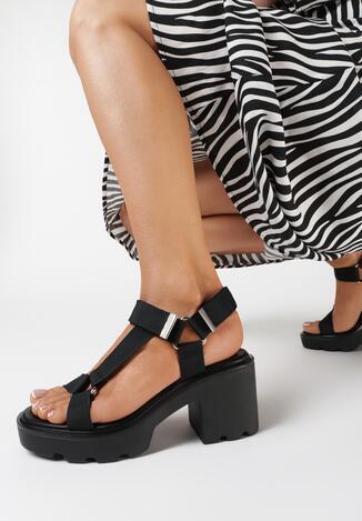 Czarne Sandały Pasiphelia
