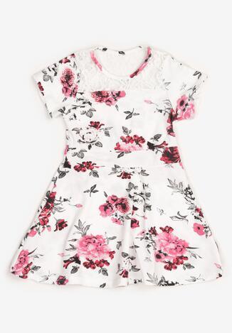 Biało-Fuksjowa Sukienka Thalali
