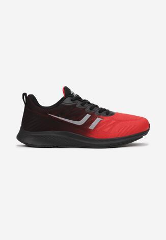 Czerwono-Czarne Buty Sportowe Thanesi