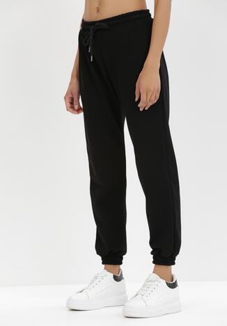 Czarne Spodnie Dresowe Antheis