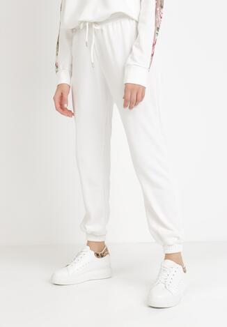 Białe Spodnie Dresowe Antheis