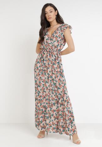 Beżowa Sukienka Phaethia