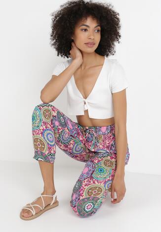 Jasnoróżowe Spodnie Szerokie Nethesis