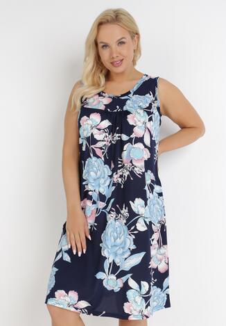 Granatowa Sukienka Cirophis